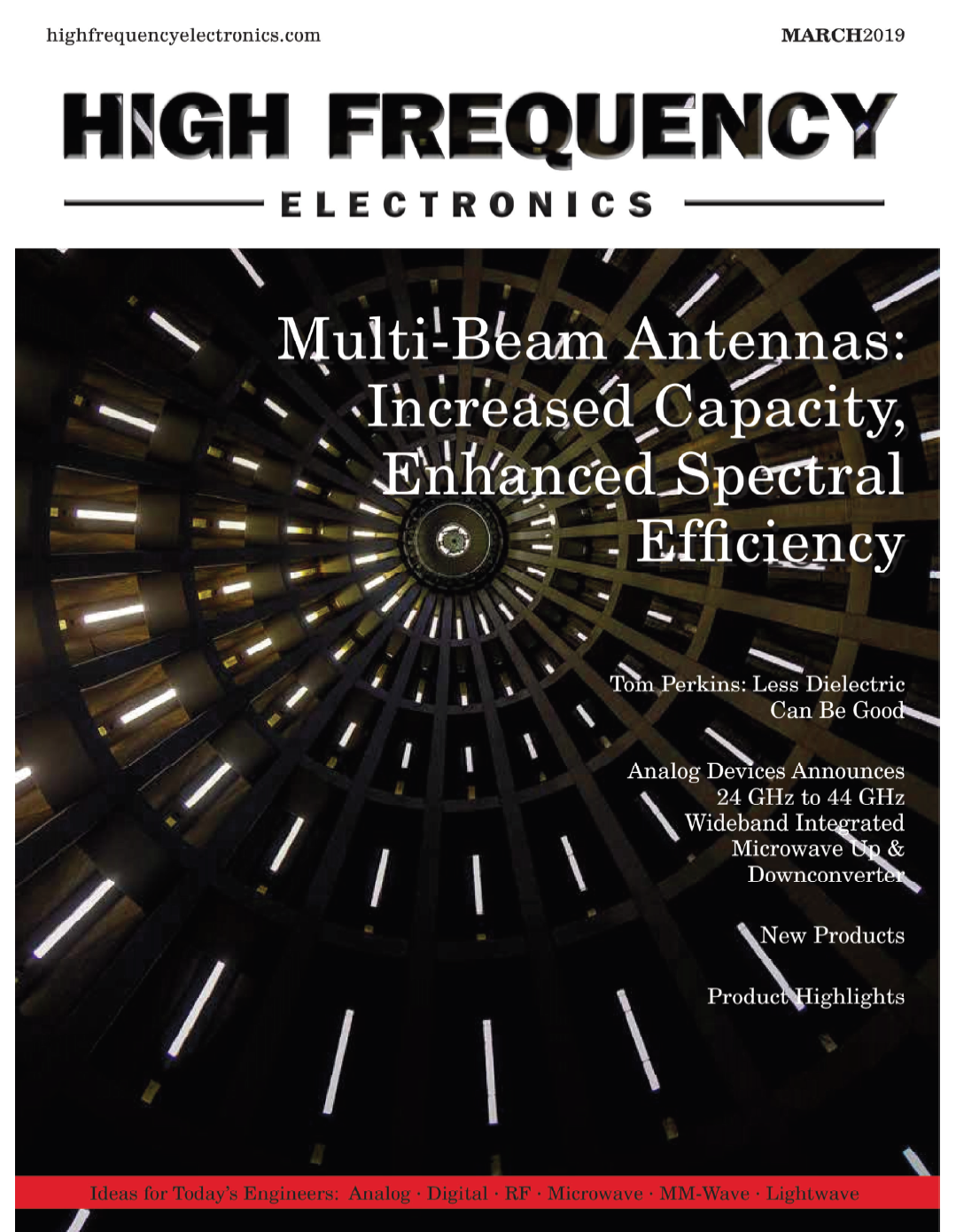 High Frequency Electronics: Multibeam Antennas Cover March 2019